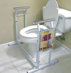 Freestanding Toilet Safety Rail Handrail with Magazine Rack for Sale in Pomona,  CA