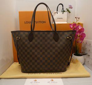 👜 Louis Vuitton Neverfull MM Damier Ebene Red Shoulder Bag + Dust Bag 👜 for Sale in Chandler, AZ