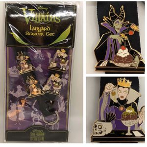 DSF Disney Soda Fountain Villains lanyard 4 pin set - LE 300 for Sale in Tustin, CA