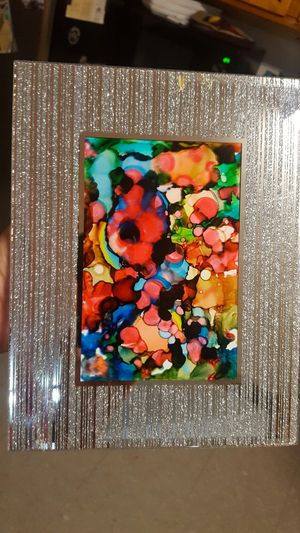 Glittered mirror frame, Abstract art mix colors for Sale in Hayward, CA