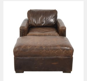Restoration Hardware Petite Maxwell Chair and Ottoman for Sale in Revere, MA
