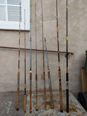 Fishing rods in excellent condition different prices,,sizes,,brands for Sale in Alhambra, CA