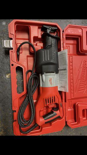Milwaukee (NEW) 15 amp Super Sawzall $170 for Sale in La Habra Heights, CA