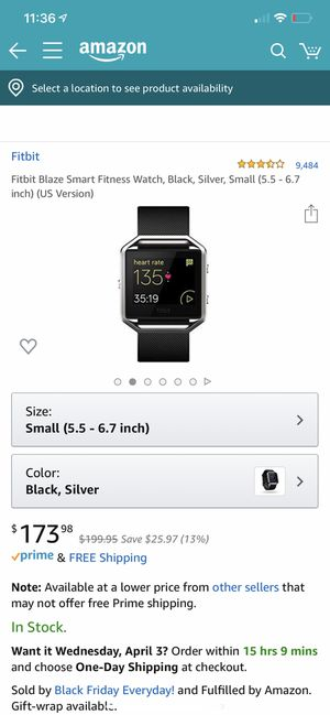 Large Fitbit blaze in black for Sale in Murray, UT