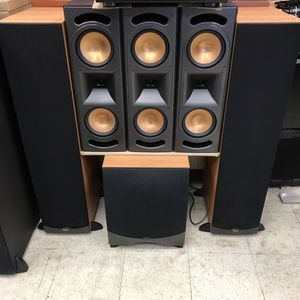 Klipsch RF35 Towers, 3 RC35 Speakers, RW 12 Subwoofer, 5.1 Home Theater Setup for Sale in Chicago, IL
