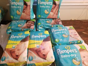 Pampers sizes 1,3,4 for Sale in Richmond, VA