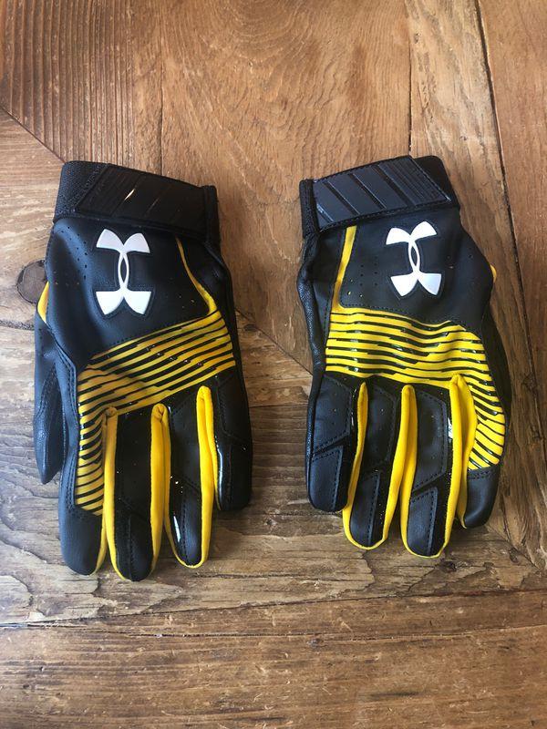 Men's UA Clean Up Baseball batting Gloves - Large