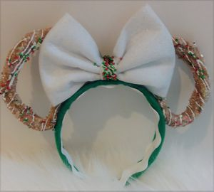 Christmas Minnie Mouse Churros Scented Headband ears for Sale in La Mesa, CA