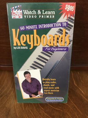 VHS Intro to Keyboards Watch & Learn for Sale in Wasilla, AK