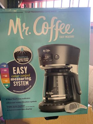 Mr. Coffee Easy Measure 12 cup Programmable Coffee Maker, Water Filtration System for Sale in Alhambra, CA