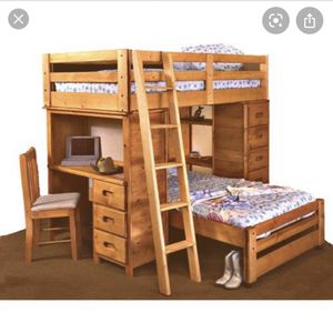 Mor Pioneer bunk bed with mattress for Sale in Chula Vista, CA