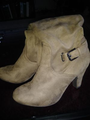 Brown suade boots new size 9.5 M for Sale in Colorado Springs, CO