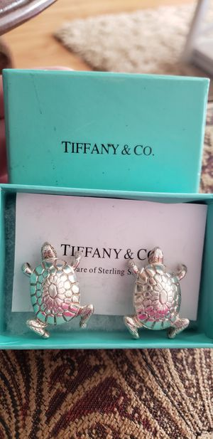 Tiffany & Co. Sterling Silver Turtle Clip-On Earrings for Sale in Anaheim, CA