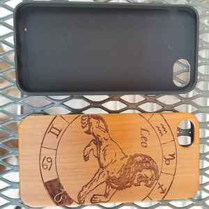 Leo zodiac horoscope design laser engraved wood case for iPhone and Samsung Galaxy for Sale in Newport Beach, CA