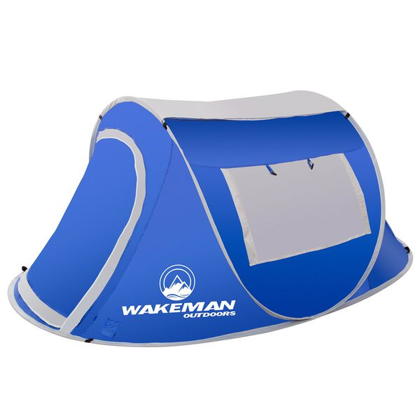 Pop-up Tent 2 Person Water Resistant Tent Shelter Canopy Shade Rainfly Hiking Camping Camper Outdoor