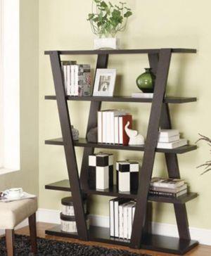 New!! Bookcase, bookshelves, storage unit, organizer, 5 cappuccino shelves organizer, audio media organizer, living room furniture, for Sale in Phoenix, AZ