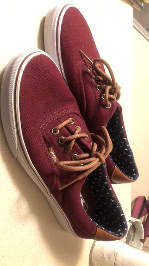 Maroon and tan leather Vans for Sale in Waukee, IA