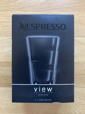 Set of 2 LARGE Nespresso View Collection RECIPE GLASSES for Sale in Brooklyn, NY