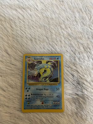 Gyarados - Base Set - 6/102 - Holo-foil Rare - Collectible Pokemon Card for Sale in Houston, TX