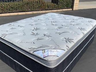 Queen Bamboo Ortho Pillow Top Mattress for Sale in Paramount,  CA