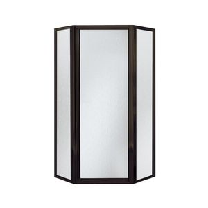"""Sterling 72"""" Neoangle Shower Enclosure, Deep Bronze Frame, Rain Glass Texture for Sale in Hume, VA"""