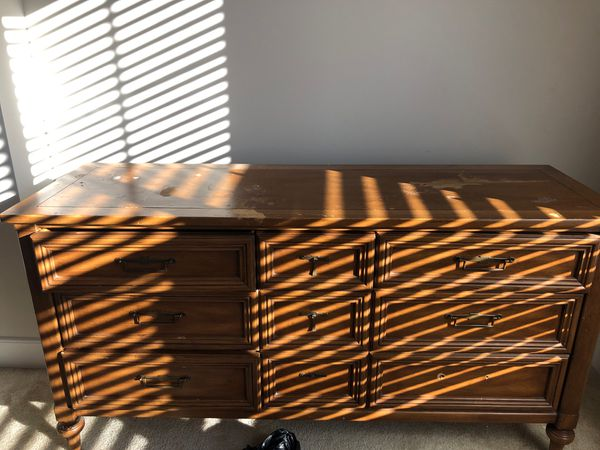Free Wood dresser- Must pick up today
