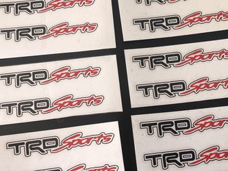 """4 pcs TRD SPORT Door Handle Vinyl Sticker For All Toyota Makes & Models . 4"""" In Length. 4pcs. for Sale in Ontario,  CA"""