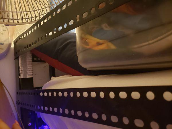 Kids loft bed metal frame