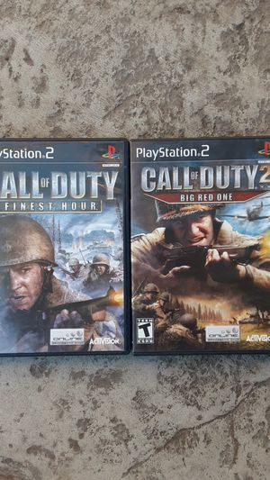 Ps2 Call of duty games for Sale in Fresno, CA