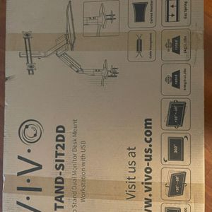 Sit To Stand Dual Monitors Desk Mount With USB for Sale in Orlando, FL