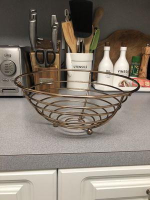 Metal Fruit Basket/ Rose Gold for Sale in South Miami, FL