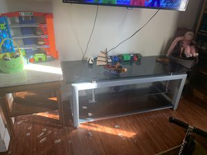 Glass TV table & Marble top end table for Sale in Aurora, CO