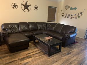 Brown sectional couch for Sale in Peoria, AZ