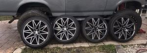 22 inch rims and tires for Sale in Hialeah, FL