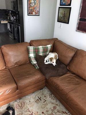 Genuine Leather Couch for Sale in Atlanta, GA