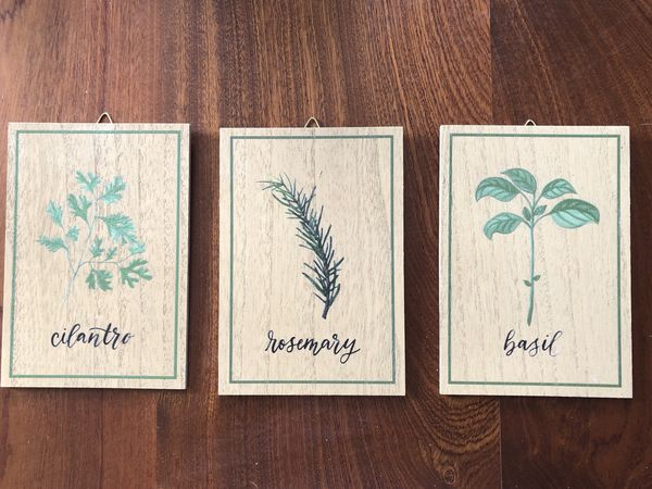 Small wall decor wood (PRICE FOR ALL 3) MORE ITEMS ON MY PROFILE -