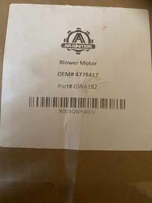 AA Ignition Blower Motor for Sale in Carmichael, CA