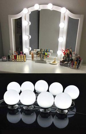 New $20 DIY Vanity Mirror Kit 10pcs Dimmable LED Light Bulb Makeup Dressing Table (USB Connection) for Sale in South El Monte, CA
