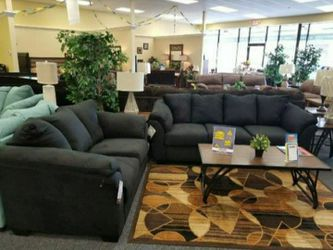 Darcy Black Living Room Set 🔆 Sofa and Loveseat for Sale in Round Rock,  TX
