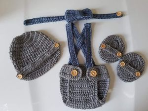 Crochet Baby Boy Diaper Cover Outfit for Sale in Lyons, GA
