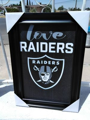 Raiders Large Frame 15 1/2 X 20 1/2 for Sale in El Paso, TX