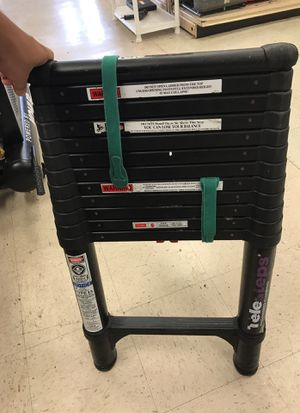 16 foot aluminum extension ladder telesteps double sided for Sale in Austin, TX