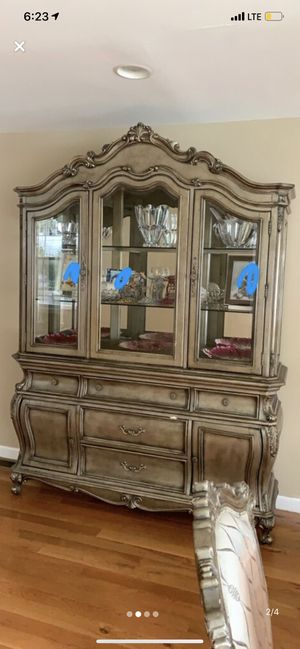 Dining room set china cabinet and a free cabinet! for Sale in Bloomfield, NJ