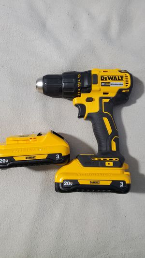 Dewalt 20V Max Brushless Half Inch Drill Driver. W/ 2 New 3ah batteries. for Sale in Plainfield, IN