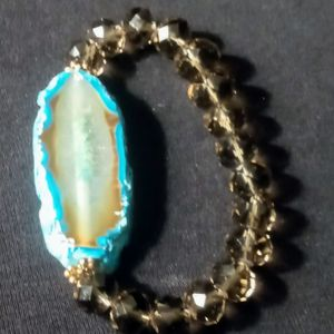 Bracelet beaded stones With Cut Geode? for Sale in Los Angeles, CA