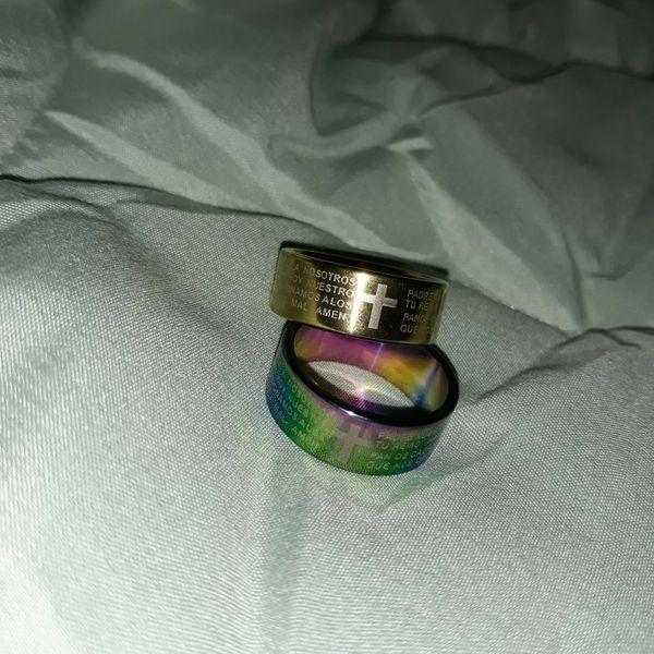 Set 2 Piece Wedding Rings, Size 9.