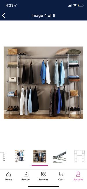 Expandable closet organizer system for Sale in Jersey City, NJ