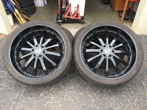 "26"" Red Sport RSW-77A Black Wheels Rims Tires for Sale in Rowlett, TX"