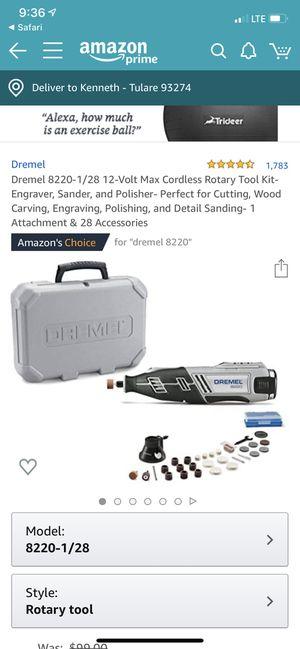 Dremel 8220 complete kit for Sale in Visalia, CA
