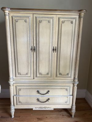 Yellow Antique Armoire for Sale in Denver, CO